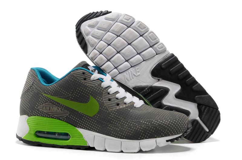 nike air max 90 shoes 2018N populaire femmes gris vert