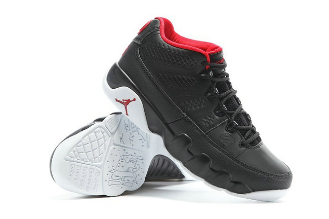nike air jordan 9 retro 2016 noir inside rouge