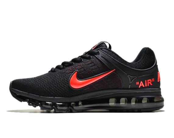 nike air max 360 running shoes black red
