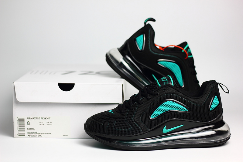 nike air max 720 sneaker classic nano black green