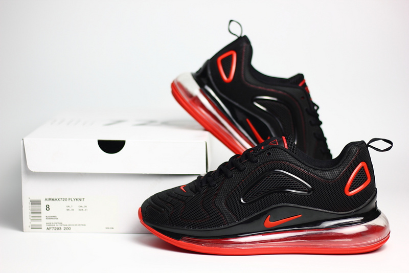 nike air max 720 sneaker classic nano black red