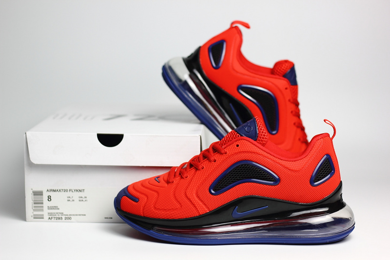 nike air max 720 sneaker classic nano red black