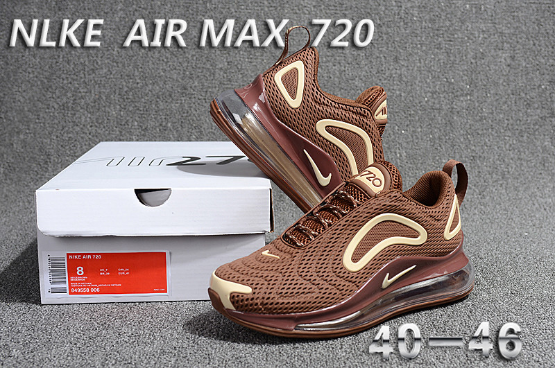 nike air max 720 sneaker classic brown