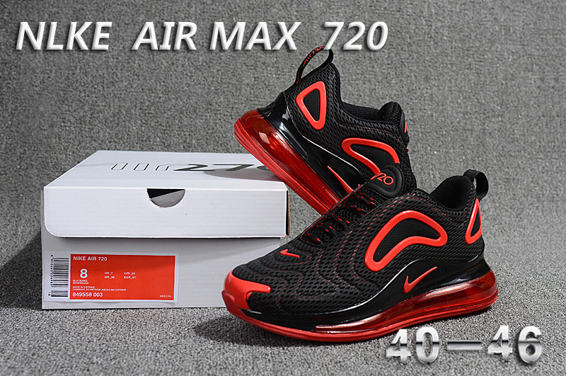 nike air max 720 sneaker classic discount black red
