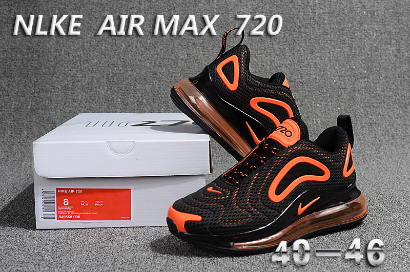 nike air max 720 sneaker classic promo black orange