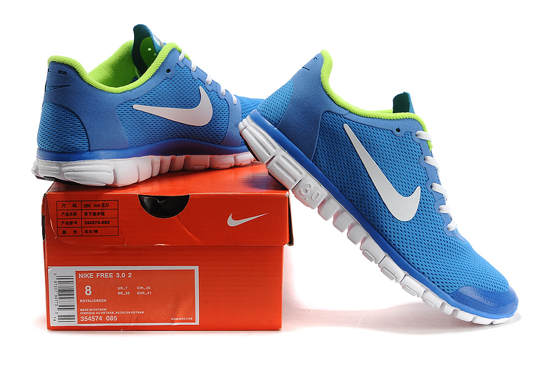 nike free 3.0 hommes mode chaussures course pas cher bleu