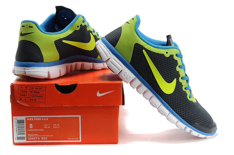 nike free 3.0 hommes mode chaussures course pas cher gris vert ews