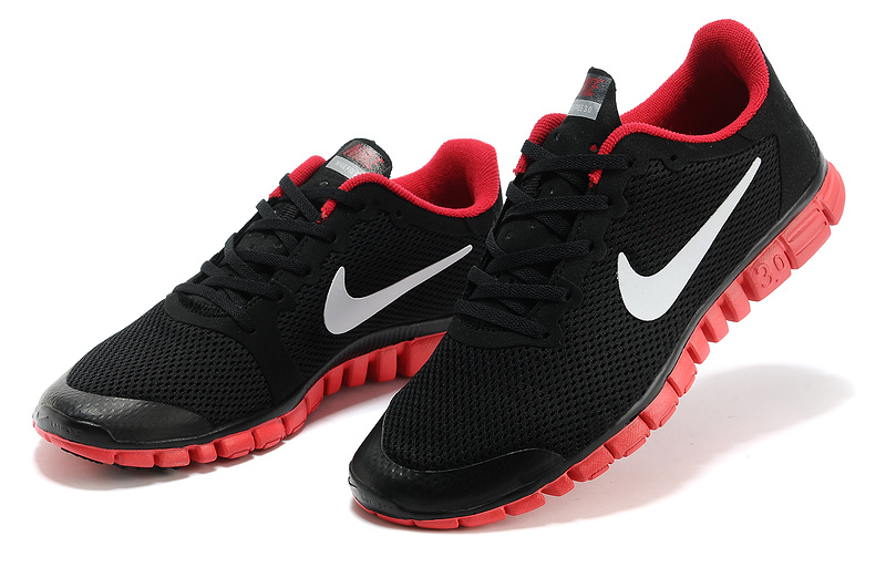 nike free 3.0 hommes mode chaussures course pas cher noir rouge
