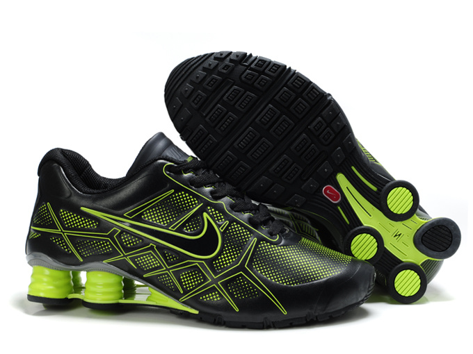 nike shox -turbo12 shoes men 2018N new style leather black green