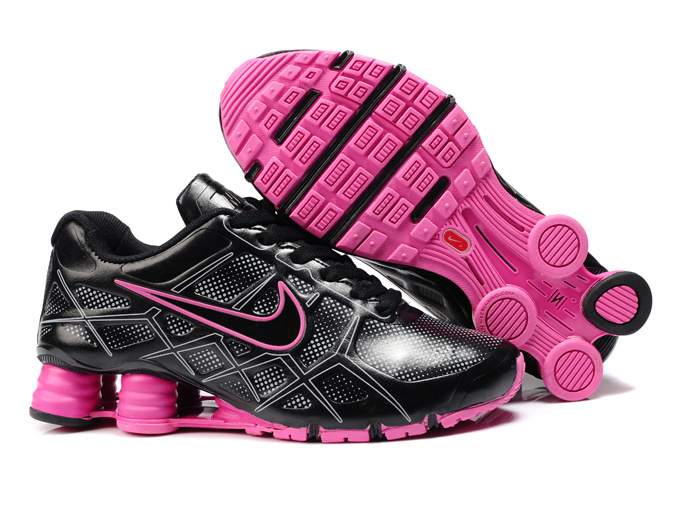 nike shox -turbo12 shoes men 2018N new style leather black pink