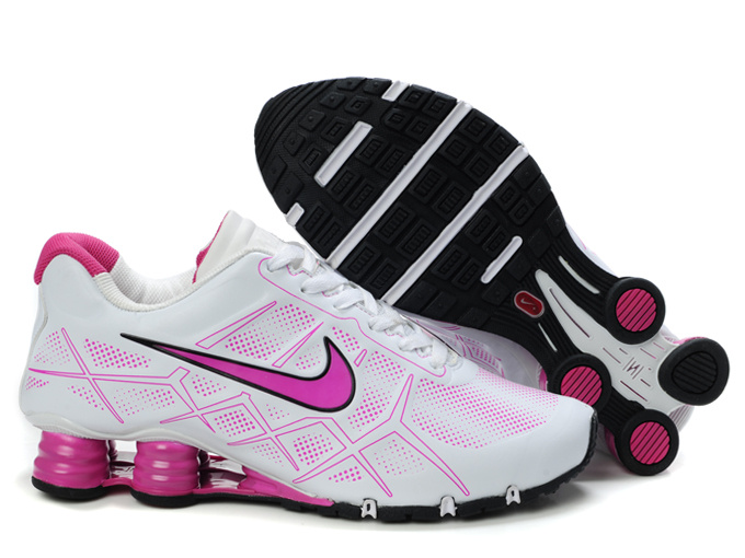nike shox -turbo12 shoes men 2018N new style leather white pink
