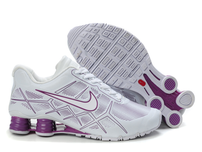 nike shox -turbo12 shoes men 2018N new style leather white purple