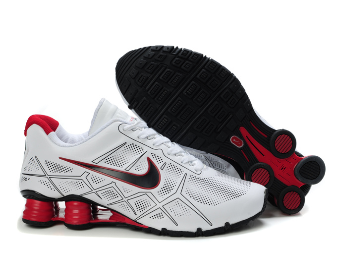 nike shox -turbo12 shoes men 2018N new style leather white red