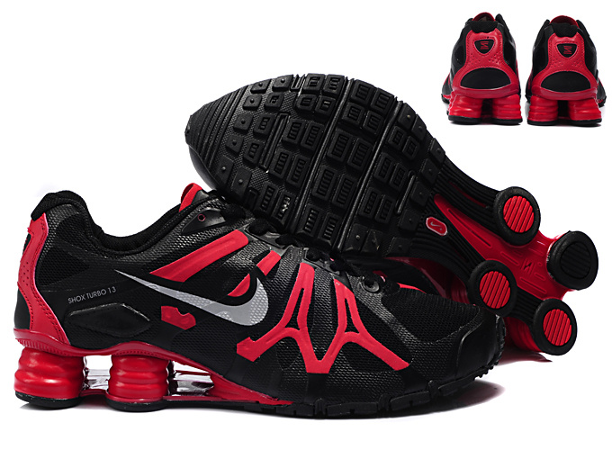 nike shox turbo+ 13 classic men chaussures black red