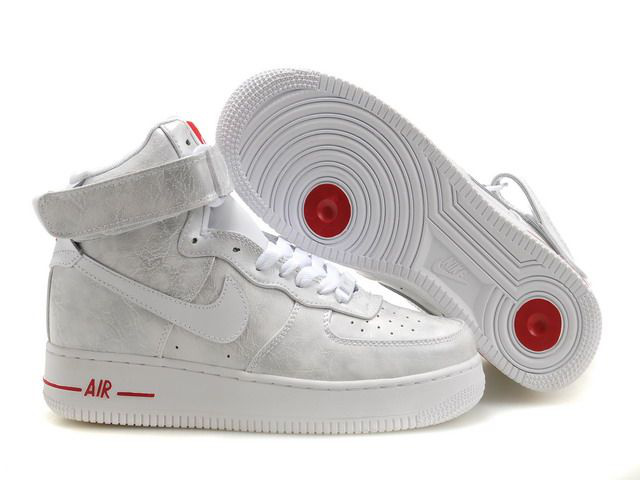 cheap nike air force one kids shoes women rouge blanc