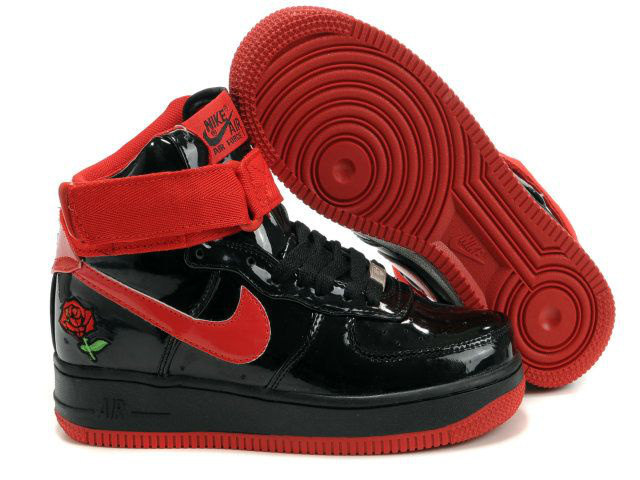 cheap nike air force one kids shoes women rouge noir