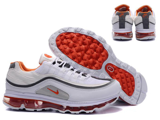 buon mercato nike air max 97 uomo shoes white blue red