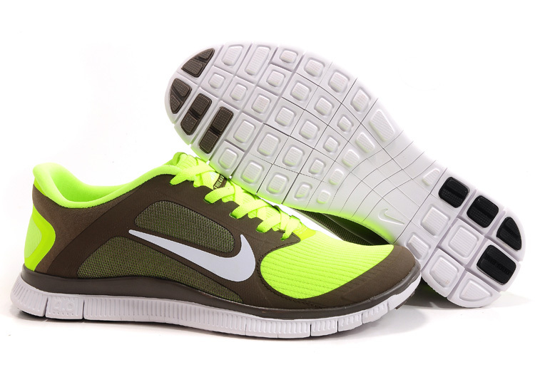 nike free 4.0 v3 pas cher shoes man women strong elasticity 2018N italy green brown