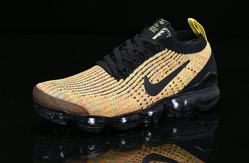 tenis nike air max vapormax flyknit af9812-006 yellow black,nike