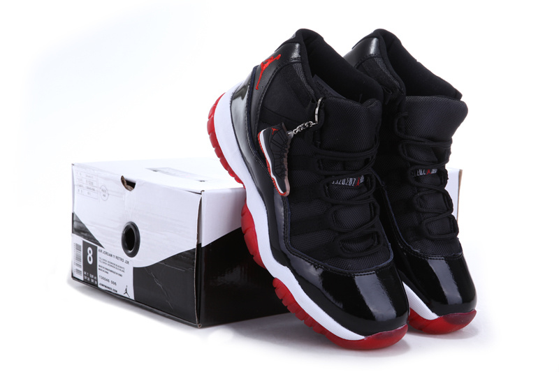 newest 9c004 dee6f ... where to buy air jordan 11 soldes new style chaussure uomo nike jordan  noir rouge 6ce67 ...