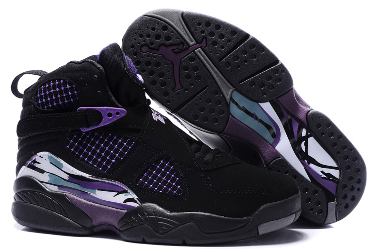 air jordan 8 donna pattini black white