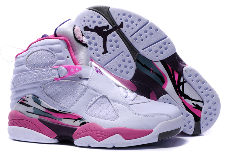 air jordan 8 donna pattini pink white airmaxus