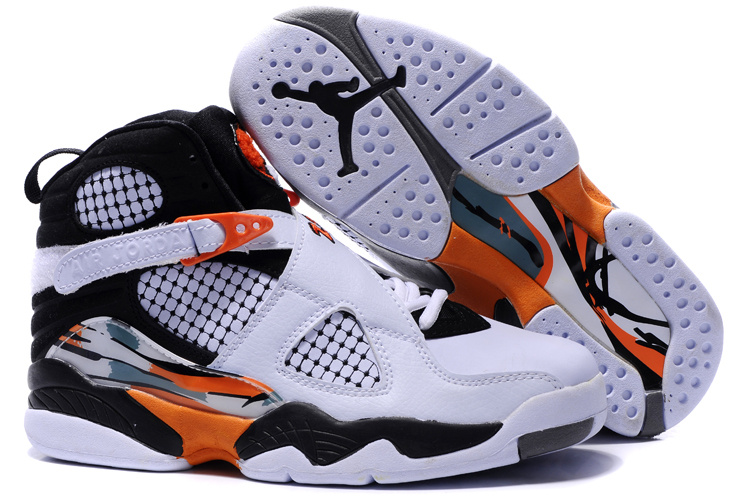 air jordan 8 donna pattini white orange