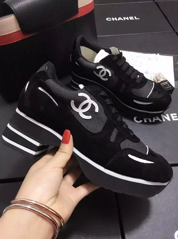 chanel chaussure donna ballerine leisure sports scarpe patent leather black 086973b0a55