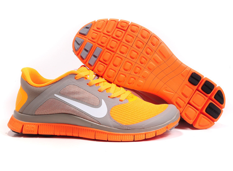 classic nike free 4.0 v3 shoes woman wto 2018N gray orange