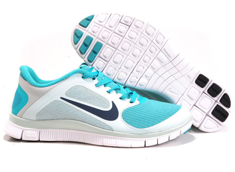 classic nike free 4.0 v3 shoes woman wto 2018N white blue
