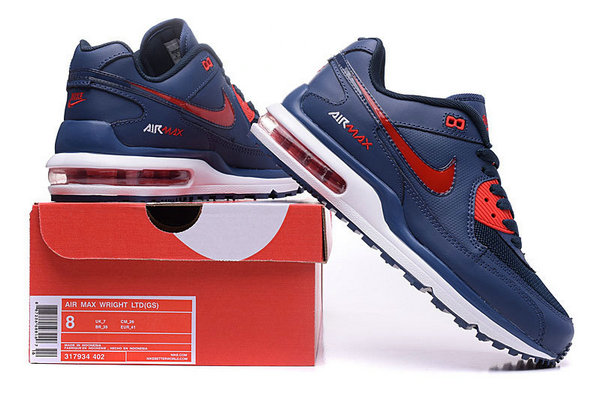 uomo nike air max wright ltd 3 running sneakers flamme blue