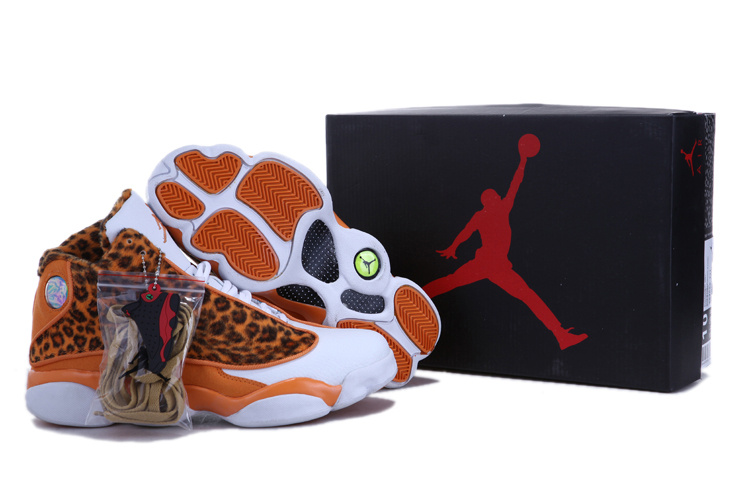 uomo air jordan 13 new style 2018N leopard orange blanc