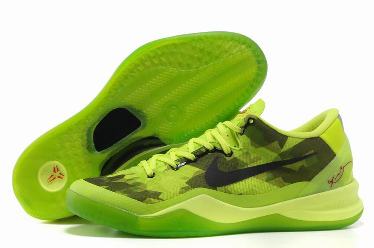man chaussures nike kobe 8 classic 2018N with socks green fluorescent