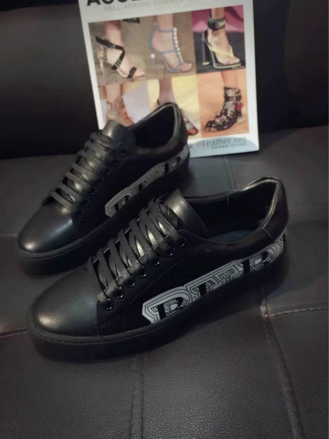mode burberry shoes womens 2018 graffiti leather shoes black