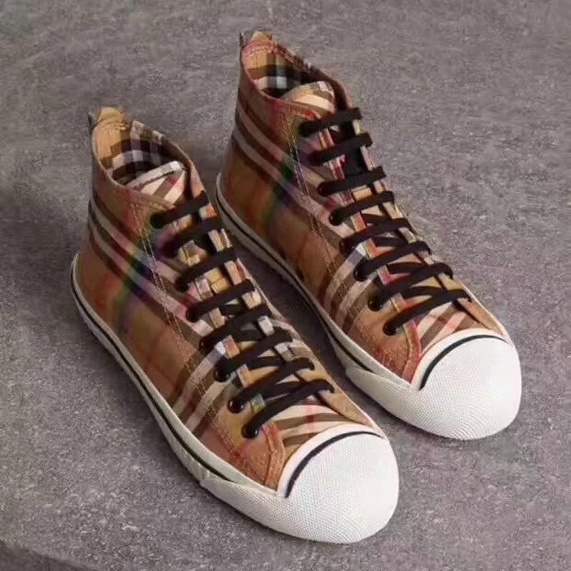mode burberry shoes womens 2018 vintage high shoes