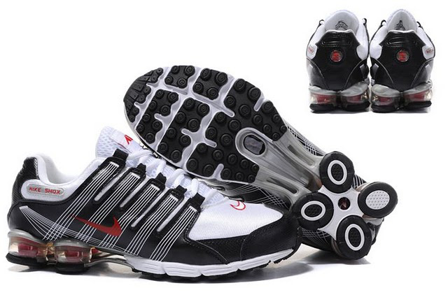 best sneakers 0b06e a4e36 pas cher nike shox r4 hommes rivaly r5903 blance noir-rouge taille 41-46