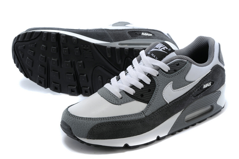 nouveau donna nike air max 90 essential baskets style gray