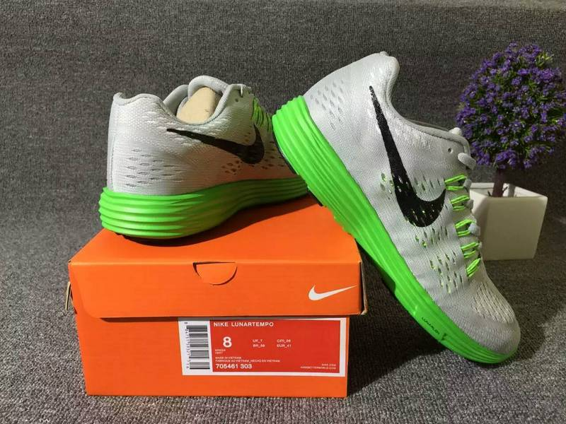 running shoes nike lunartempo 2 pour man 705461-303 gray