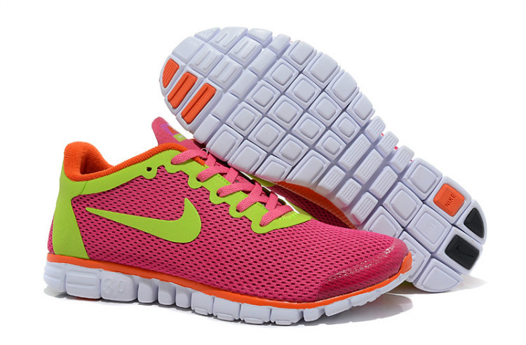 shoes women nike 3.0 free large network tendance rose orange