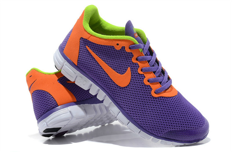 shoes women nike 3.0 free large network tendance violet orange
