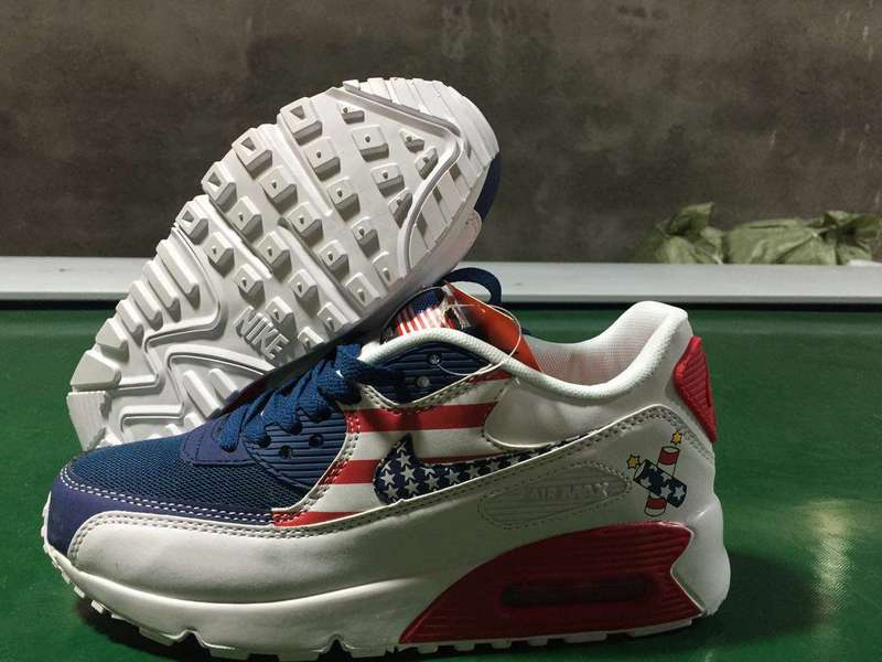 meilleures baskets 65371 cf139 donna air max 90 nike exclusive scarpe united states flag ...