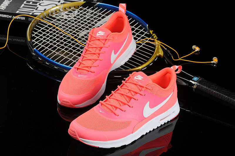 donna nike air max thea baskets run top rouge von  Nike Air Max Thea ... d5272f06ed5e